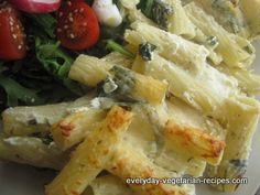 An easy healthy pasta recipe that's low fat and low calorie.  Tasty and homely baked pasta dish is a real surprise.  Spinach and yogurt make for an unusual and delicious treat.