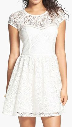 Socialite Illusion Lace Skater Dress...for the rehearsal.