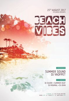 Beach Vibes Flyer by styleWish on DeviantArt Club Poster, Party Poster, Flyer Design Templates, Flyer Template, Designer Grafico, Ocean Night, Halloween Flyer, Yacht Party, Ocean Party