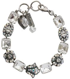 "Mariana Silver Plated Rectangular Crown Swarovski Crystal Bracelet, 7.75"" Clear Crystal AB 4014 0011AB: Jewelry $187.00. Available at www.regencies.com"