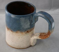 Stoneware  ExtraLarge Coffee MUG Extra Large by LisaMelitaArt, $22.50
