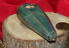 147 raw gemcut oak wood tobacco pipe in blue by rkscraftworks, $22.82 #glasspipe #bong #marijuana