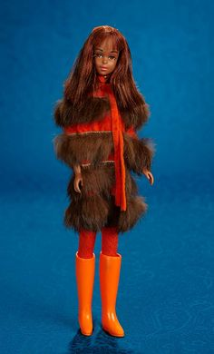 @TheriaultsDolls® Barbie: Fifteen Golden Years, 1958-1973: 177 Black Francie, 1st Edition, in Sears Exclusive Furry Go Round™ Ensemble ©1967