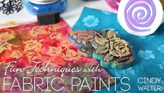 Use fabric paints and fun techniques effortlessly as you make custom designs.