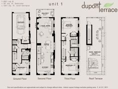 Toronto Dupont Terrace Floor Plan.
