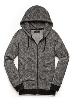 Marled Knit Zippered Hoodie | 21 MEN - 2000068994