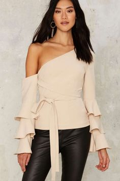 Lavish Alice Tier's Lookin' at You One Shoulder Top | Shop Clothes at Nasty Gal!