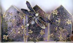Suzz's Stamping Spot, Memory Box, Tim Holtz, Dragonfly, Golden Garden, DecoArt, Sizzix, Queens Gold,