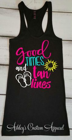 Summer Tank Beach Tank Tops Cruise Shirts Boating Tank Good Times and Tan Lines Lake Tank Swimsuit Cover Up Vacation Tank Beach Top - Life Shirts - Ideas of Life Shirts - Summer Tank Tops, Summer Shirts, Dandy, Meme Shirts, Boat Shirts, Hawaii Shirts, Beach T Shirts, Beach Tanks, Swimsuit Cover Ups