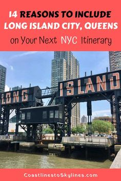 Here are 14 reasons to include Long Island City, Queens on your next New York City trip itinerary including Gantry Plaza State Park, MoMA Socrates Sculpture Garden, Brooklyn Grange Rooftop Farm, and LIC Flea & Food Us Travel Destinations, Nyc Itinerary, Great Buildings And Structures, Modern Buildings, Queens New York, New York City Travel, Asia, Long Island City, Travel Usa
