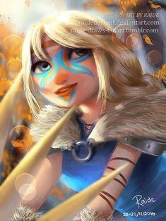 by raide-draws-fanart #Hiccstrid ^.^ ♡ < Astrid. :)
