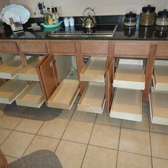 Best Kitchen Organization Site Ever Has Everything Kitchen Shelves - Sliding shelves for kitchen cabinets