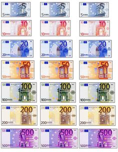 Euro, also, lots of French printables French Classroom, Spanish Classroom, Teaching French, Billet En Euros, Doll House Crafts, Barbie Miniatures, Mini Doll House, French Education