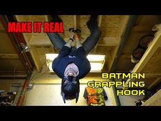 Guy Creates A Fully Functional Batman Grappling Hook! [Video] - If you can't get enough of imaginary gadgets, here's a guy who just created a fully functional Batman grappling hook and rappelling device.