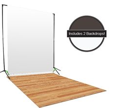 Create that classic living room for your photo studio with this new Gray & White Backdrop / Floordrop Set from Backdrop Express.