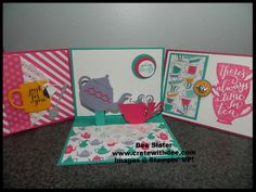 Have a Cuppa Stampin' UP! product suite pop-up card!
