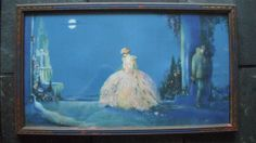 ROSES OF DESTINY by MARYGOLD 1920s ART DECO Print in ART DECO Frame Fairy Tale #ArtDeco