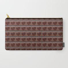 """Carry-All Pouch / Medium (9.5"""" x 6"""") LaSoffittaDiSte (lasoffittadiste) love chocolate by LaSoffittaDiSte"""