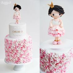 Cake with little girl