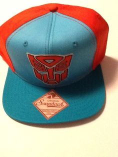 2c83a20eaae47 Transformers Hat Cap Blue Red Snapback MARVEL COMICS COSTUME COSPLAY HAT   Bioworld  BaseballCap Comic