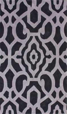 Rugs USA Keno Firouza Charcoal Rug: I like this rug in charcoal for the dining room!