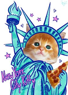 The kitty who will take over the city, one pizza slice at a time.