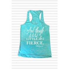 Cross Training Tank Top Though She Be but Little She Is Fierce Womens... (58 BRL) ❤ liked on Polyvore featuring activewear, activewear tops, black, tanks, tops and women's clothing