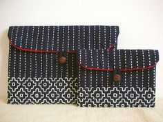 Indigo Button-Closure Pouch (two sizes) | Flickr - Photo Sharing!