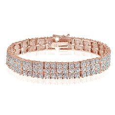 Shop for DB Designs Rose Goldtone 1ct TDW Diamond Miracle Set 3-Row Tennis Bracelet and more for everyday discount prices at Overstock.com - Your Online Jewelry Store!