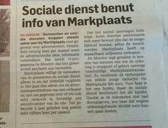 Sociale dienst benut info van marktplaats. Algemeendagblad 13 april