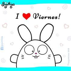 I love viernes! #guyuminos #frases #tarjetas #kawaii