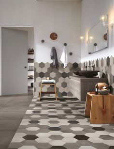 Porcelain stoneware wall/floor tiles REWIND by Ragno - Marazzi Group