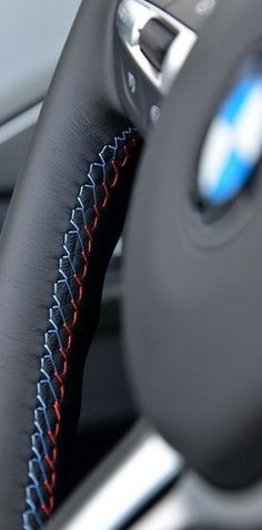 BMW stitching detail. Exceptional quality, craftsmanship and attention to detail!