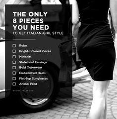 The 8-Piece Wardrobe That Defines Italian-Girl Style via @WhoWhatWearUK