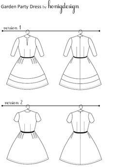 Garden Party Dress Pattern - FREE! - honigdesign