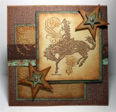 COWBOY BRADS Boots Hat Western Texas Cowgirl Scrapbooking Card Making Stamping