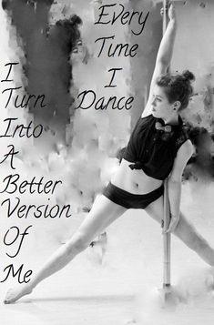 Pole Dance Phrases and Vignettes - When I dance. Pole Fitness Classes, Pole Dancing Fitness, Dance Fitness, Pole Classes, Pole Dancing Quotes, Dance Quotes, Modern Dance, Hip Hop, Pole Dance Sport