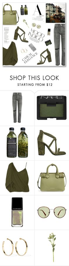 """""""Green"""" by ginny-mckenzie ❤ liked on Polyvore featuring Citizens of Humanity, NARS Cosmetics, ANNA, Iris, Haute Hippie, Burberry, Tod's, Jennifer Fisher, OKA and Casetify"""