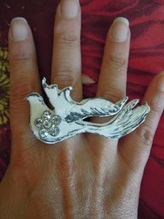 SINGS A SONG White Winged Dove Statement by DreamALittleDesigns, $20.00
