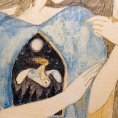 Lucy Campbel. Detail of a panel
