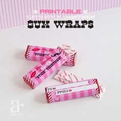 Mr and Miss Mustache Valentines Day Printable Pack of Gum Wrapper - Instant Download