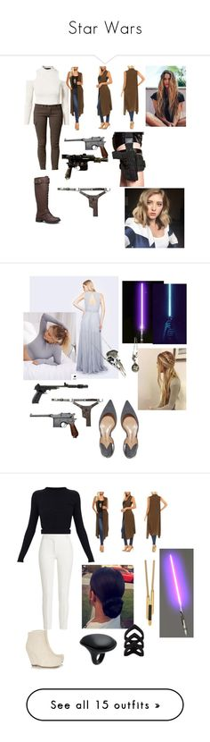 """Star Wars"" by dazzleeliana ❤ liked on Polyvore featuring MINKPINK, Savannah, Isaac Liev, Paul Andrew, Joseph, Rick Owens, Maiyet, Uma 