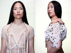 New Fashion Inspiration Board Fabric Manipulation Wearable Art Ideas Geometric Fashion, Tribal Fashion, Fashion Art, Editorial Fashion, Fashion Outfits, Fashion Design, Moda Tribal, Androgynous Models, 2014 Trends