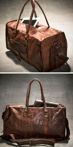 Leather duffle