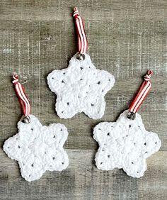 Crochet Star Ornaments | Creating Me Crochet Stars, Easy Crochet, Christmas Items, Christmas Ornaments, Star Ornament, Crochet Earrings, Holiday Decor, Create, Pattern