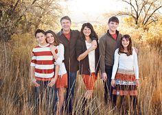 Custom Family Photography Grand Junction Casual Family Photos, Outdoor Family Pictures, Outdoor Family Portraits, Fall Family Pictures, Family Picture Outfits, Family Pics, Big Family, Autumn Photography, Portrait Photography