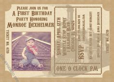 Vintage Train Ticket Invitation by TheAvocadoSeed on Etsy, $15.00