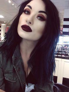 gorgeous makeup goth metal