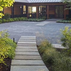 Segmented bluestone walkway - modern - landscape - other metro - by H. Keith Wagner Partnership