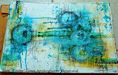 Art Journaling with Dylusions, glitter frosting paste etc.. more on the blog! by Ingrid Kristina V #art #artjournaling #ingridscraftscorner